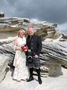 sydney elopement; scottish wedding; fun wedding; sydney celebrant; marriage celebrant; beach wedding; joyful occasions;