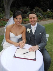sydney wedding ceremony; Sydney Botanic Gardens; garden weddings; celebrant joy; Joyful Occasions weddings
