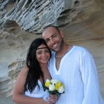 white wedding; Sydney beach wedding; Sydney marriage celebrant; celebrant joy; marriage celebrant