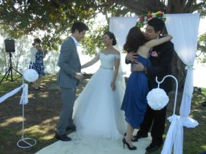 wedding congratulations; wedding ceremony; Cabarita Park wedding; park wedding; Sydney inner west wedding; celebrant joy; sydney wedding celebrant; Joyful Occasions Celebrant