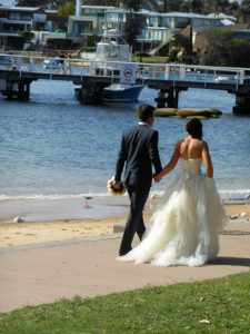 Watson's Bay wedding; wedding walk; Sydney wedding celebrant; Joyful Occasions celebrant