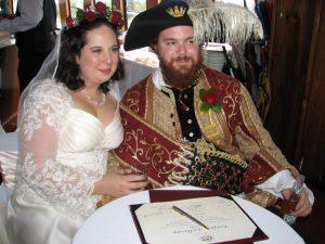 fancy dress wedding; fun wedding; vintage customer wedding; groom surprise; marriage celebrant; wedding celebrant; fun wedding;